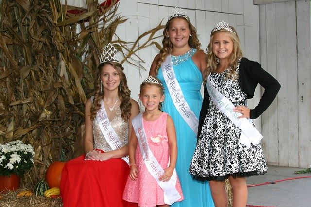 2015 McClure Bean Soup Pageant Winners Deborah Thomas, Alaina Brower, Olivia Laub and Sarah Nesbit